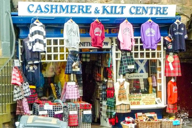 Negozi di Kilt in Edimburgo-Edimburgo con i bambini