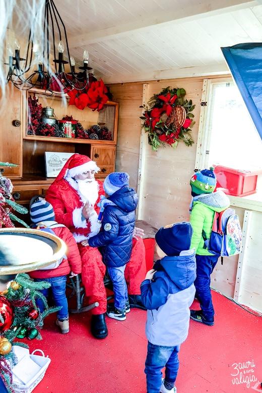 Viverone mercatini di natale casa di Babbo Natale