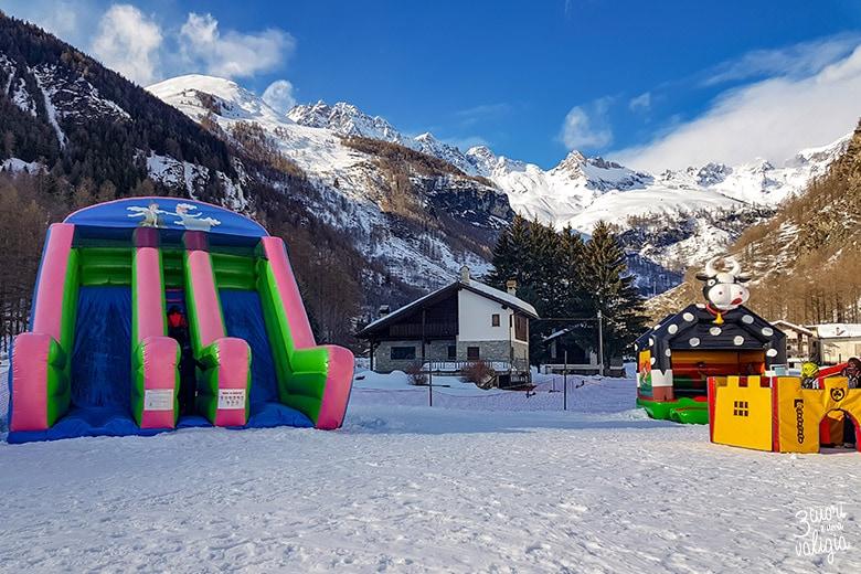 Giochi gonfiabili per bambini a Ollomont - Aosta
