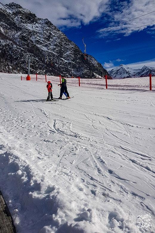 Piste da sci per bambini a Ollomont - Aosta