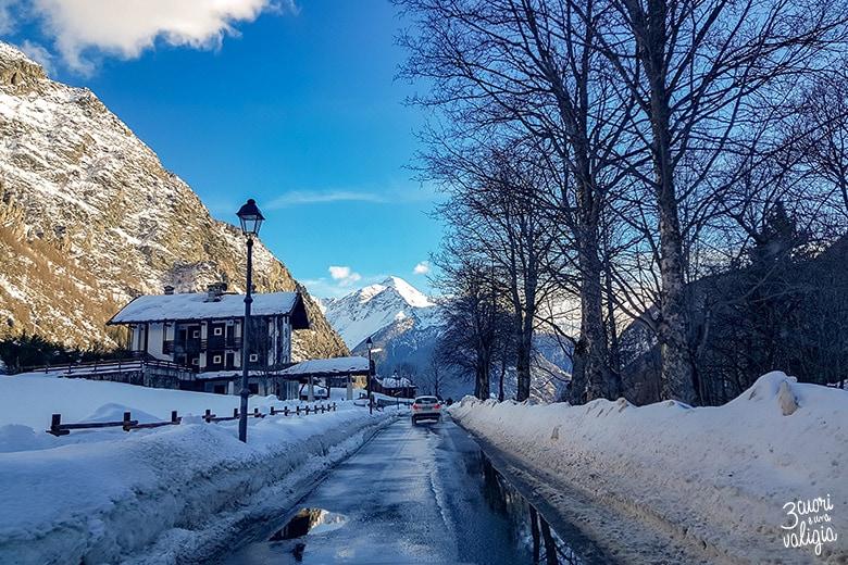 Strade innevate, Ollomont - Aosta