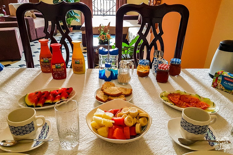 L'Avana con bambini: Colazione casa particular