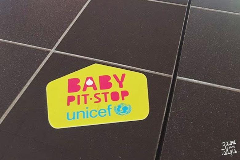 Aeroporto di Torino Caselle baby pit-stop Unicef