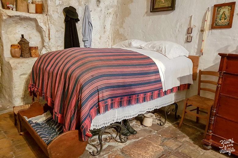 Matera sasso Caveoso interno della casa Grotta