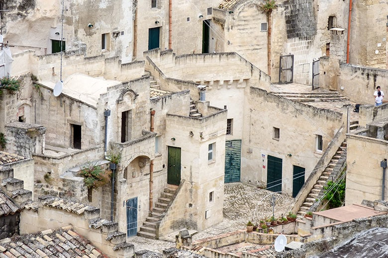 Sassi di Matera sovrapporsi di case vicoli e gradini