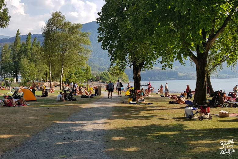 Svizzera - Walenstad, lago di Walen, area attrezzata