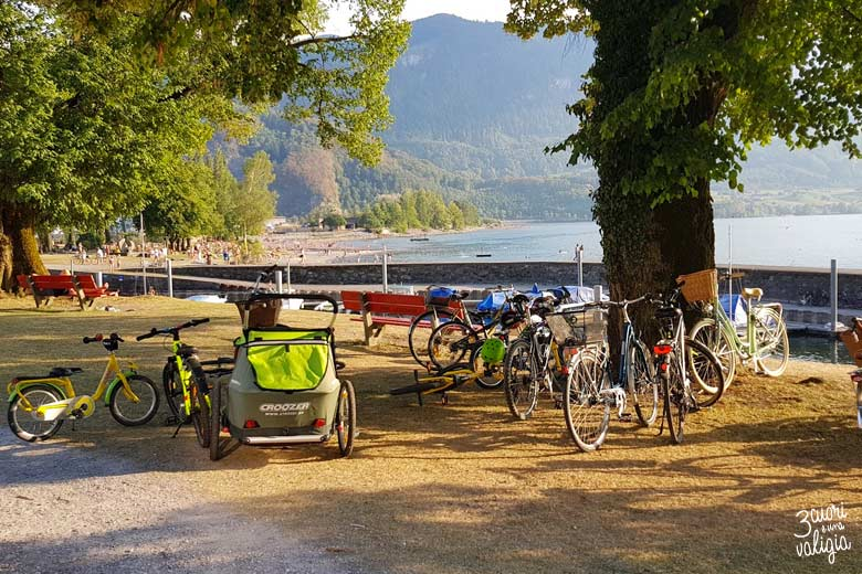 Svizzera - Walenstad, lago di Walen, area verde