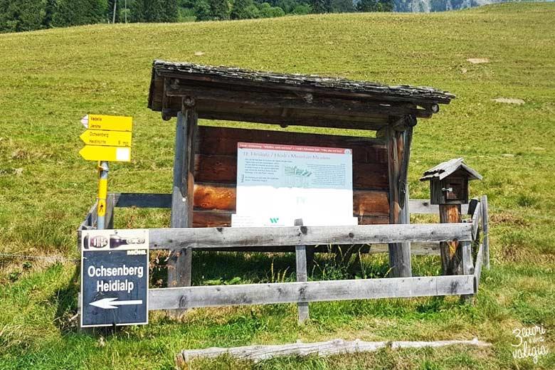 Svizzera - alpe dell'Ochsenberg indicazioni per la baita del nonno di Heidi