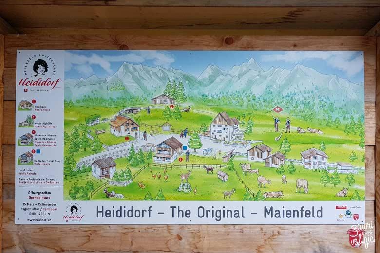 Svizzera - Maienfeld Heididorf cartina
