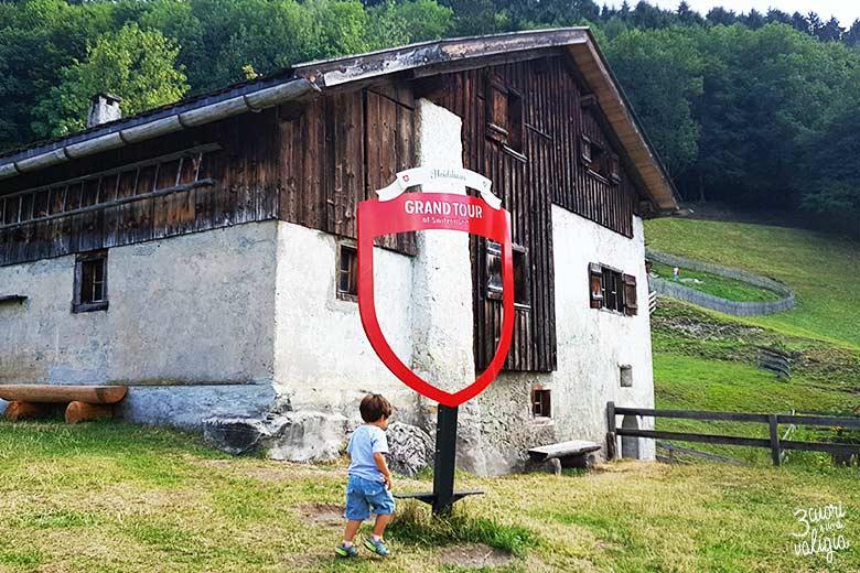 Svizzera - Maienfeld Heididorf casa di Heidi