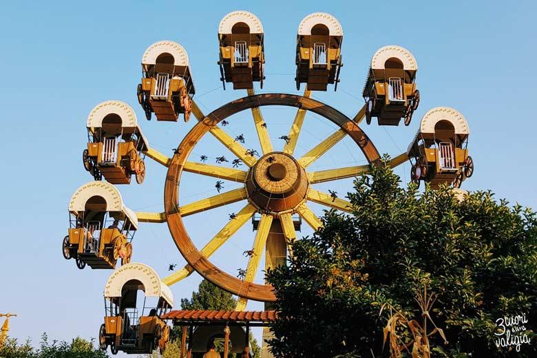 Leolandia con bambini - ruota dei Pionieri