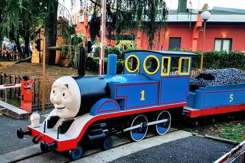 Leolandia con bambini - trenino Thomas