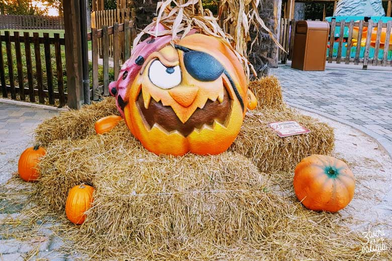 Leolandia con bambini - zucche di Halloween