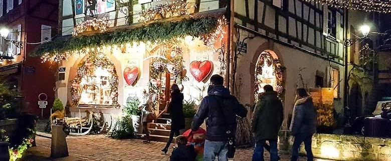Kaysersberg con bambini - luci di Natale