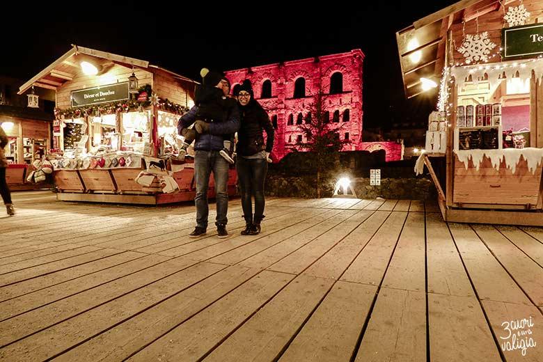 Aosta con bambini: mercatini di Natale