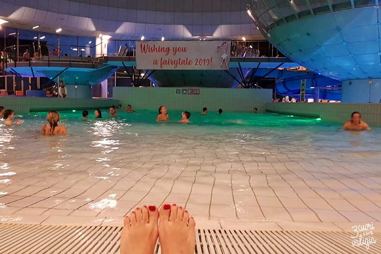 Terme di Lasko con bambini, relax in piscina