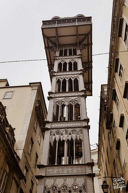 Lisbona con bambini ascensore di Santa Justa