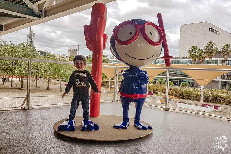 Lisbona con bambini oceanario mascotte Vasco