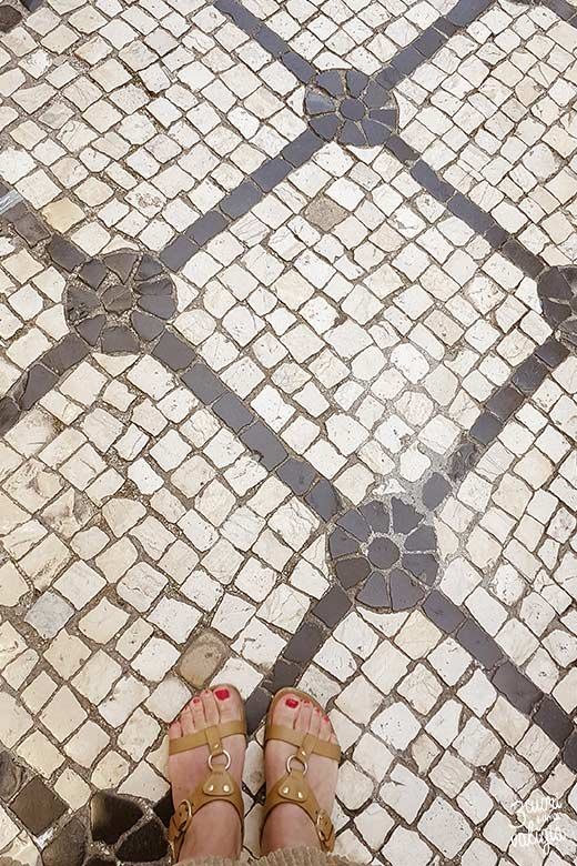 Lisbona con bambini Calçada Portuguesa