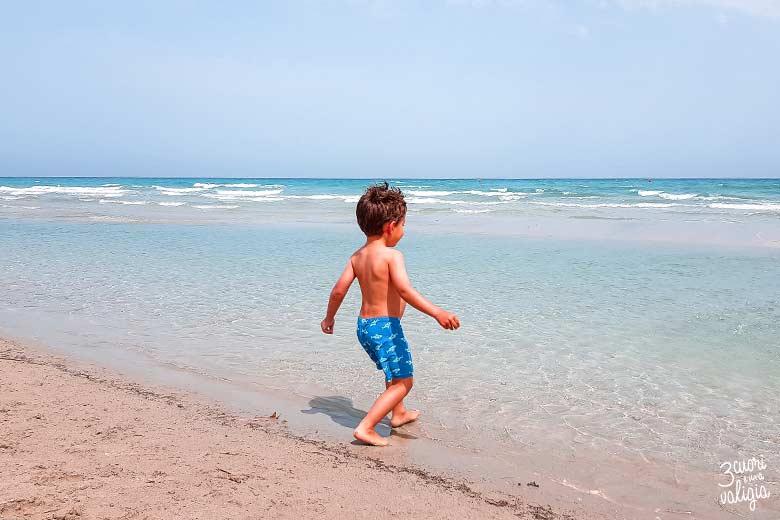 Salento con bambini spiaggia di Alimini