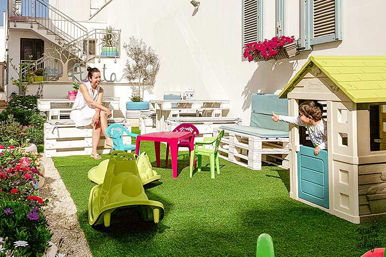Salento con bambini B&B Casa di Anita Arnesano giochi per bambini