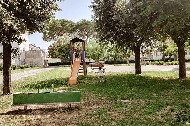 Salento con bambini B&B Casa di Anita Arnesano parco giochi