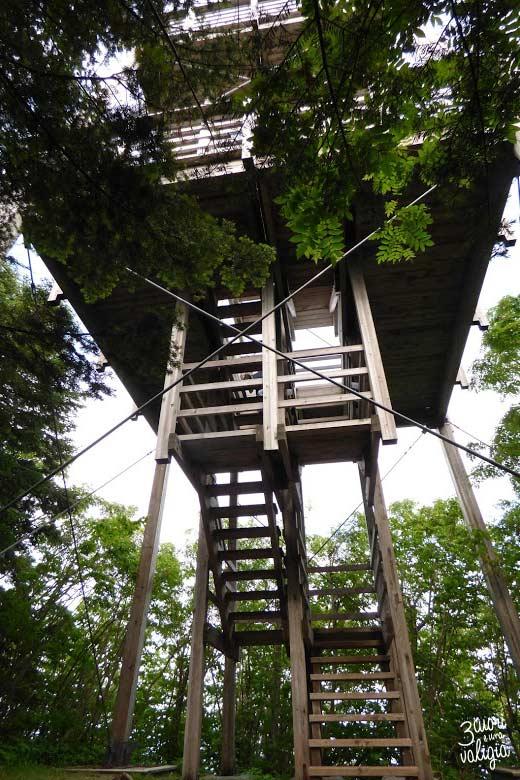 Itinerario Canada orientale con bambini Forillon National Park torre d'osservazione