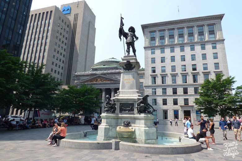 Itinerario Canada orientale con bambini Montréal place d'Armes