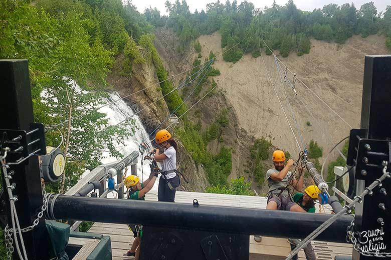 Itinerario Canada orientale con bambini Parc de la Chute-Montmorency Zipline