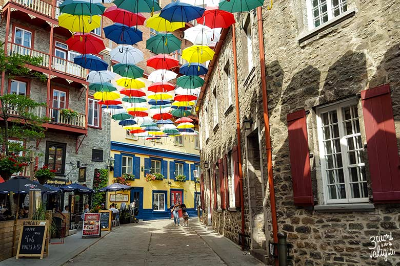 Quebec City Umbrella Alley