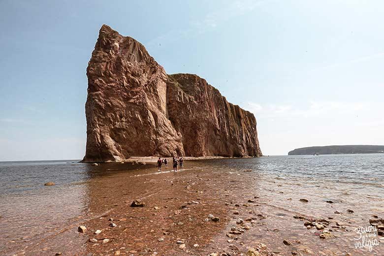 Itinerario Canada orientale con bambini Percé Rock