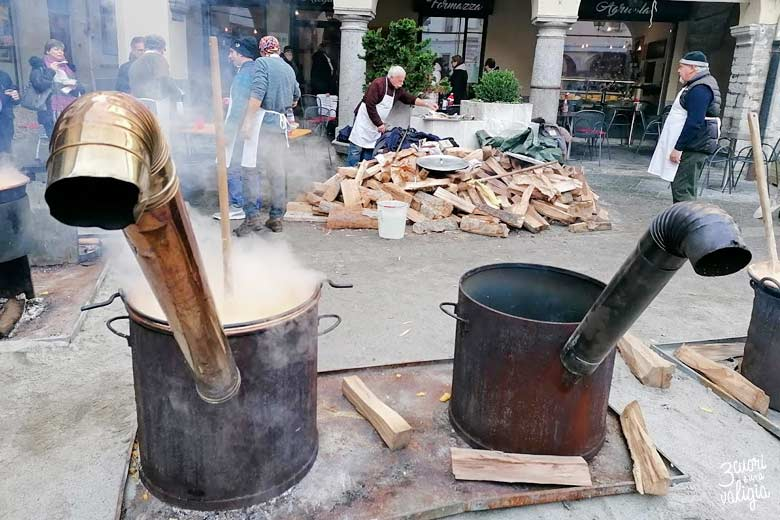 Polenta in Piazza del Mercato a Domodossola